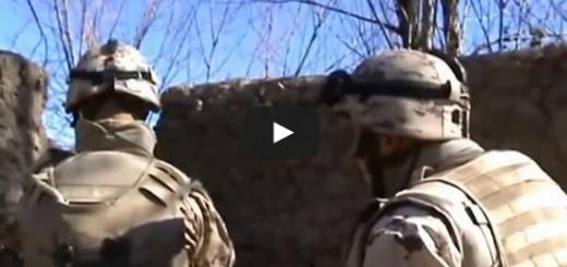 Eesti kaitseväelased sõdimas Talibani võitlejatega Afganistanis Helmandi provintsis.